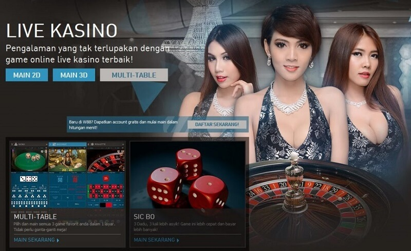 W88 Indonesia - Live Kasino Online