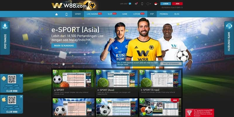 W88 - Taruhan Olahraga Virtual Sportsbook